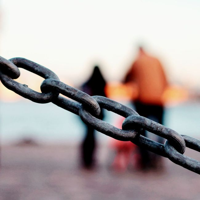 Love me or leave me. Chain Walking Around Couples Sunset Showcase:June Fine Art Photography