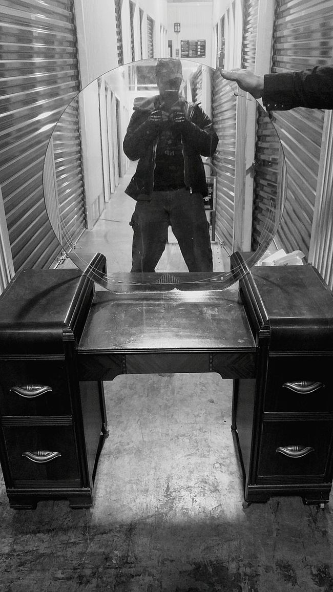 Better Look Twice Black And White Mirror Optical Illusions Reflection Trick Shot
