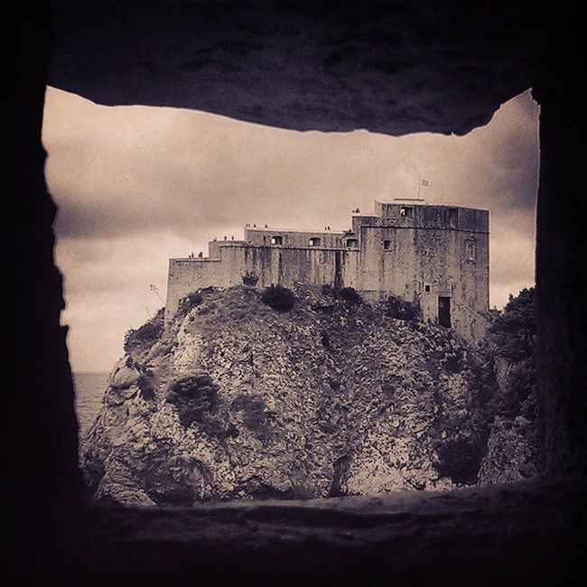 Fort Lovrijenac St_Lawrence Fortress Croatia Dubrovnik Bw Blackandwhite Stone History City_Wall Power Rule Sea Land View Rock Window Constructingworlds Awesome Epic Travel Tourist Picoftheday Dark Brooding Loves_Gothic Menacing Protection InstaCroatia