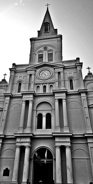 French Quarter New Orleans Louisiana South Louisiana Jackson Square Exploring The City Streets City Streets  St. Louis Cathedral Black And White Black & White