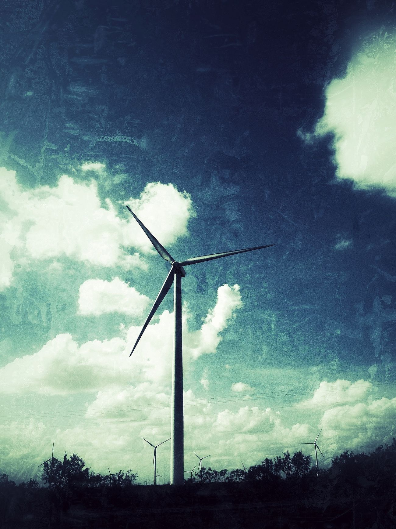 Windmill Clouds And Sky