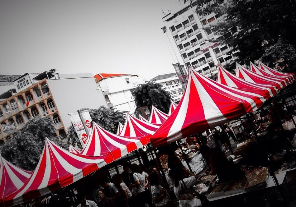 Focus in Red Red Tent Flea Markets Red Only