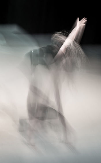Abstract Abstract Photography Arts Culture And Entertainment Black Background Blurred Blurred Motion Blurred Movement Dance Dance Performance Dancer Experimental Experimental Photography Folkwang University Human Hand Indoors  Long Exposure Motion Mystery One Person Real People Young Adult AI Now