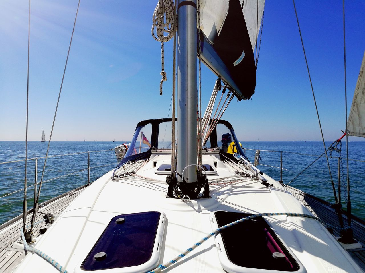 Live For The Story Sea Nautical Vessel Sailing Sailing Ship Sailboat Boat Deck Yacht Outdoors No People Yachting Wave Day Water Regatta Sky Sailing Ship Bavaria Transportation Horizon Over Water Beauty In Nature Ijsselmeer