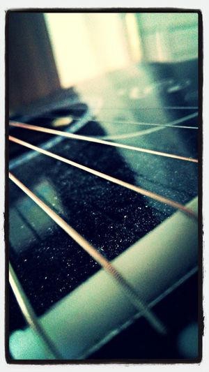 Guitar Strings Focus Endless Music