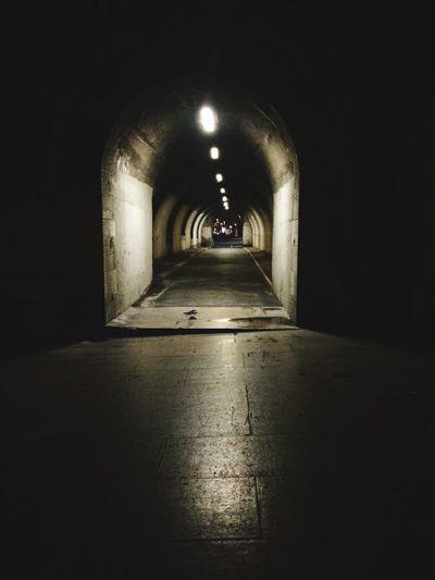 Light And Shadow Streetphotography Nightphotography Scary Tunnel Life Shadows Walking Fine Art Photography
