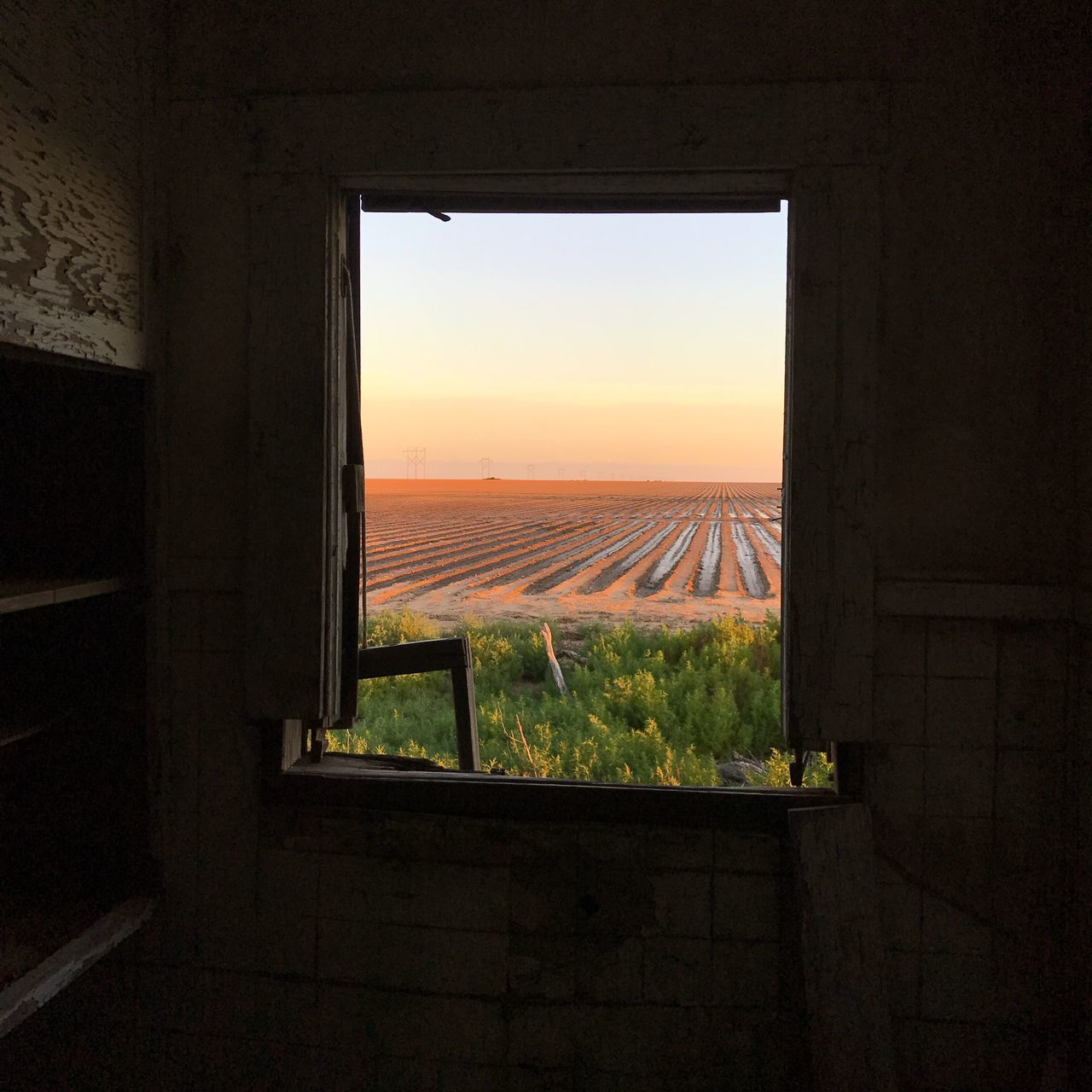 """""""Once A View"""" An abandoned house on the cotton fields of Texas, a history insight I had, knowing how life once went there, it makes me very sad. A lost love attached, dreams broken then and now...I cry...I'm left with only two words, and that is how and why. Window Sunset Sky Indoors  Landscape Agriculture Scenics Abandoned Buildings Abandoned Places Lost Love Poetry Poetry In Pictures Brokendreams West Texas Cottonfields Westtexasskies Silhouette Metaphor"""