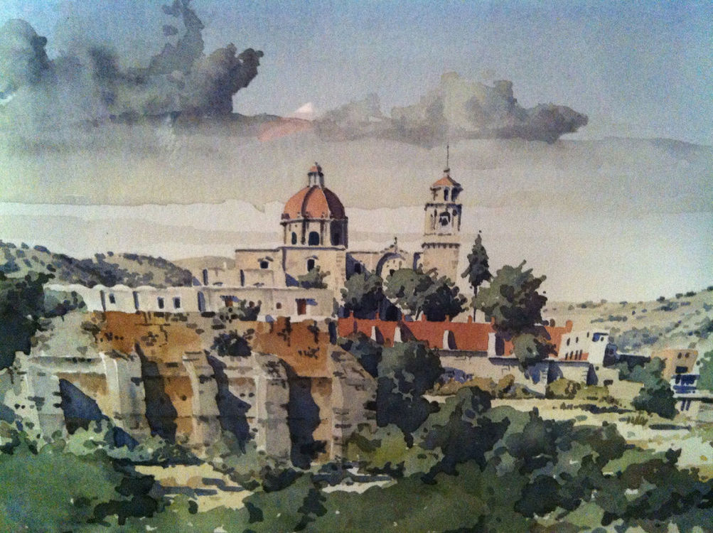 watercolours in Zapopan by Benjamín Pardo