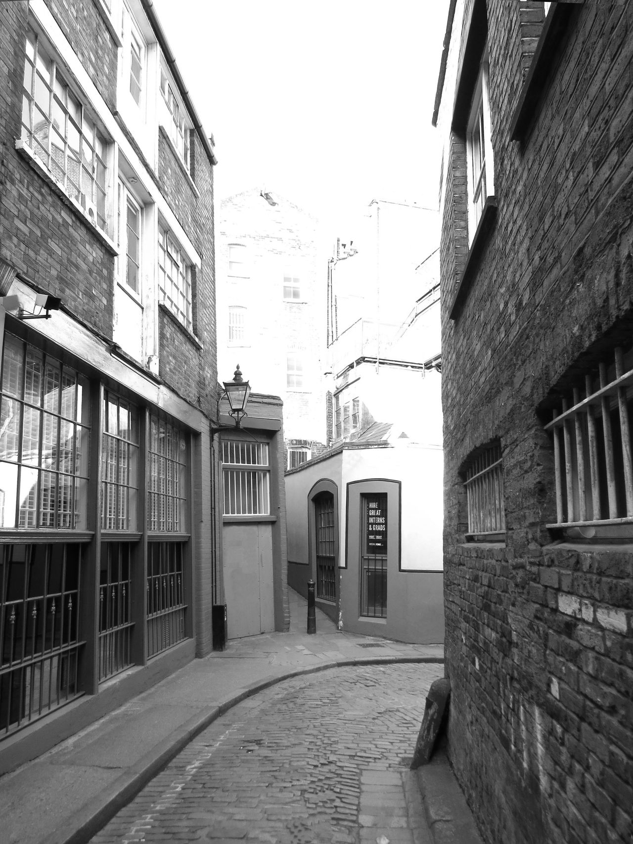 Architecture Back Alley Black And White Black And White Photography Building Exterior Built Structure Day Empty Streets English Architecture English Town Light And Shadow Morning Morning Light Narrow Path Narrow Street No People Outdoors Swindon Traditional Architecture Windows