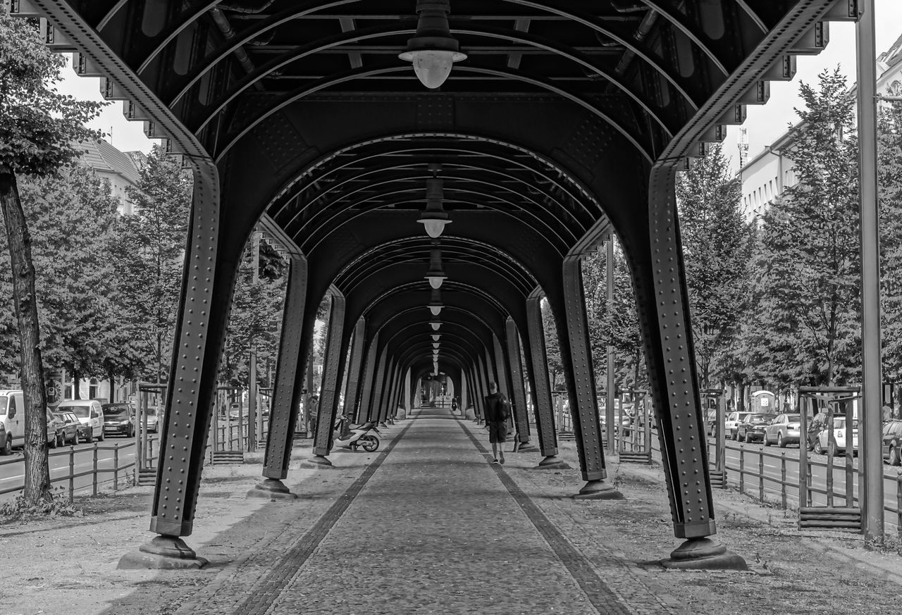 Architectural Column Architecture Built Structure Diminishing Perspective Long People Prenzlauer Berg Real People Street Photography Streetphoto_bw The Way Forward Travel Destinations U-Bahn Ubahn Viaduct Viadukt Walkway Showcase July