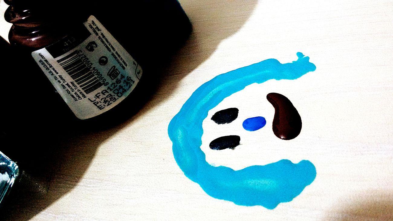 Nail Enamel Blue No People ✌✌ The Girl My Art😅😂😃😄 😊☺☺☺ 😒😞😜😋:-)