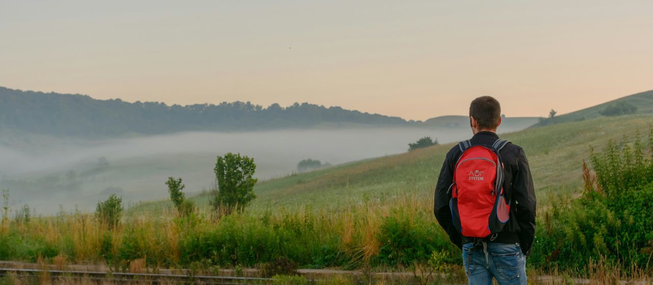 Mist Landscape_Collection Landscspe Romania Man People People Watching Fog Traveling Travel
