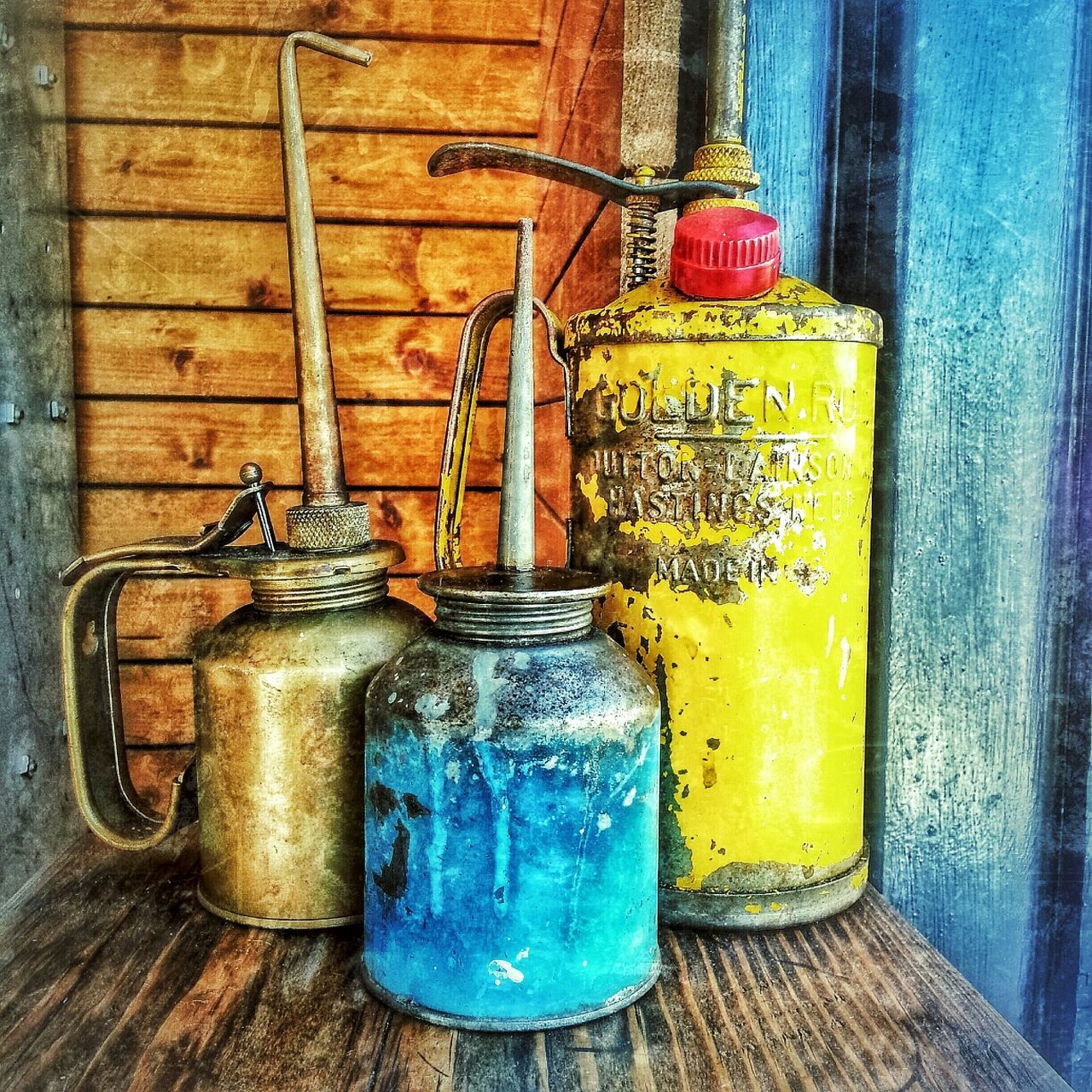 Filling Station Westport Urban Landscape Dreamscapes & Memories Coffee Shop Oil Cans PITSTOP