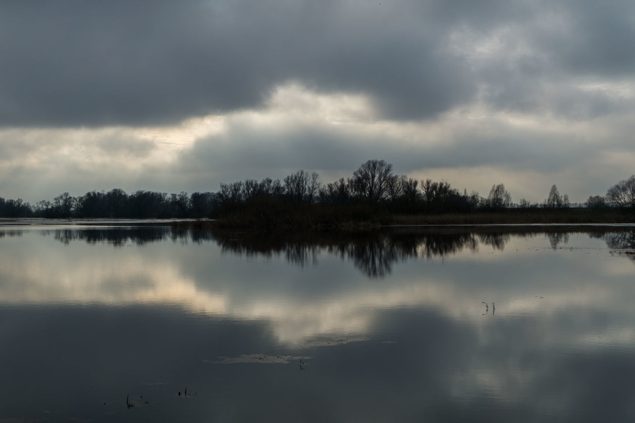 Landsscape photography in the area of Oderbruch in Germany. Dramatic Sky Mirror Reflection Beauty In Nature Cloud - Sky Day Idyllic Lake Nature No People Outdoors Reflection Scenics Sky Tranquil Scene Tranquility Tree Water