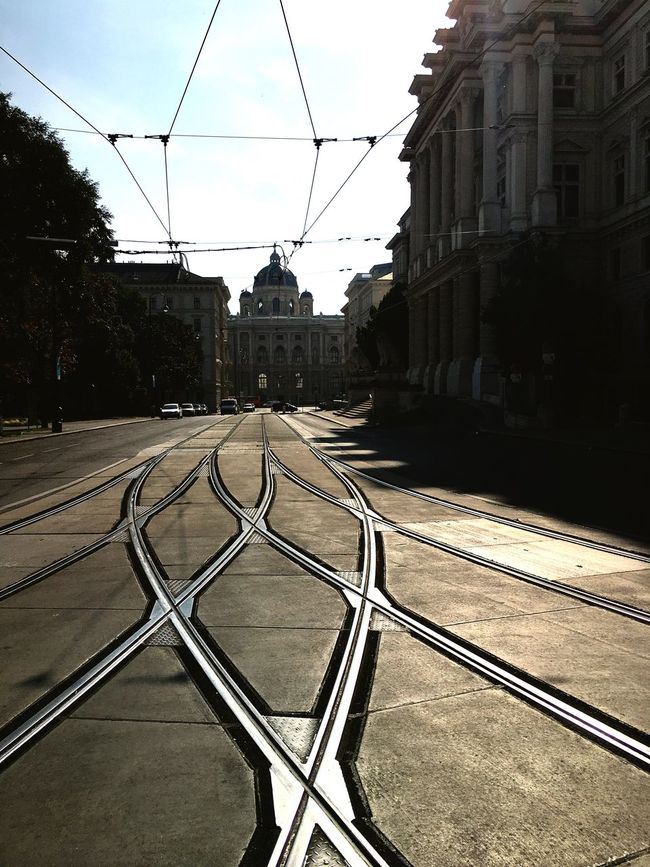 Tramway Crossing Crossroads Vienna Viennaarchitecture Vienna_city Streetphotography Museum Naturhistorisches Museum Power Line  Public Transportation Architecture Architecture_collection City Cable Road Concrete Town Building Connection Historic Historical Building Eye4photography  EyeEm Best Shots Walking Around