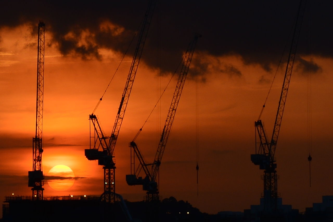 Beautiful stock photos of industrial, Beauty In Nature, Cloud, Construction, Crane