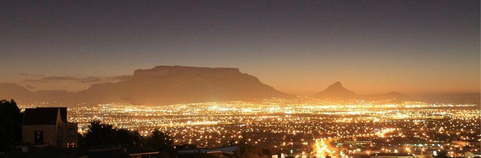 Capetown NightInTown Tablemountain Mothercity