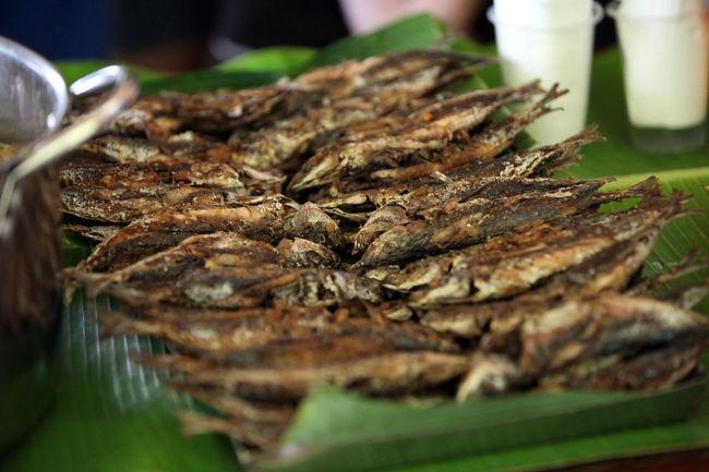 Filipino Food Filipinofood Fish On Banana Leaves Fried Fish Fried Food Friedfish Friedfood Tuyo First Eyeem Photo