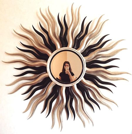 Portrait One Person Adults Only People Cheerful Adult Young Adult Mirror Day Radiation Reflection Black Gold Sun