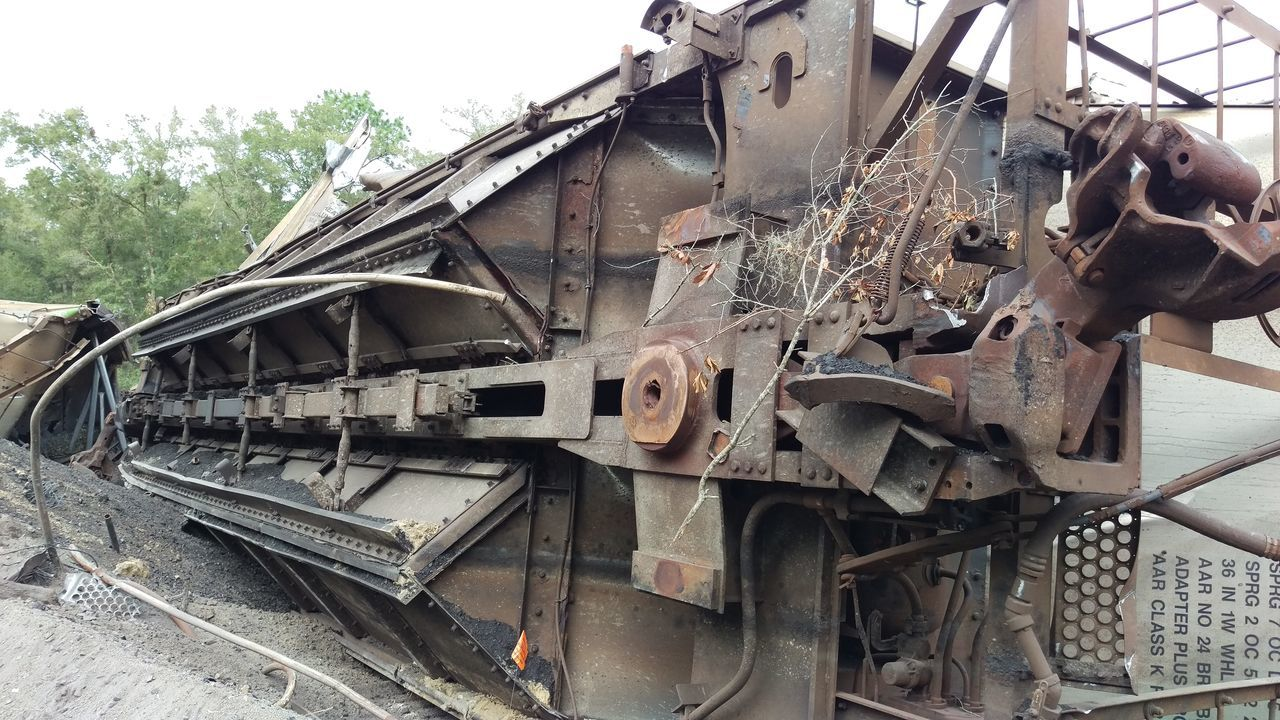 abandoned, obsolete, transportation, train - vehicle, metal, rail transportation, railroad track, mode of transport, damaged, rusty, day, no people, outdoors
