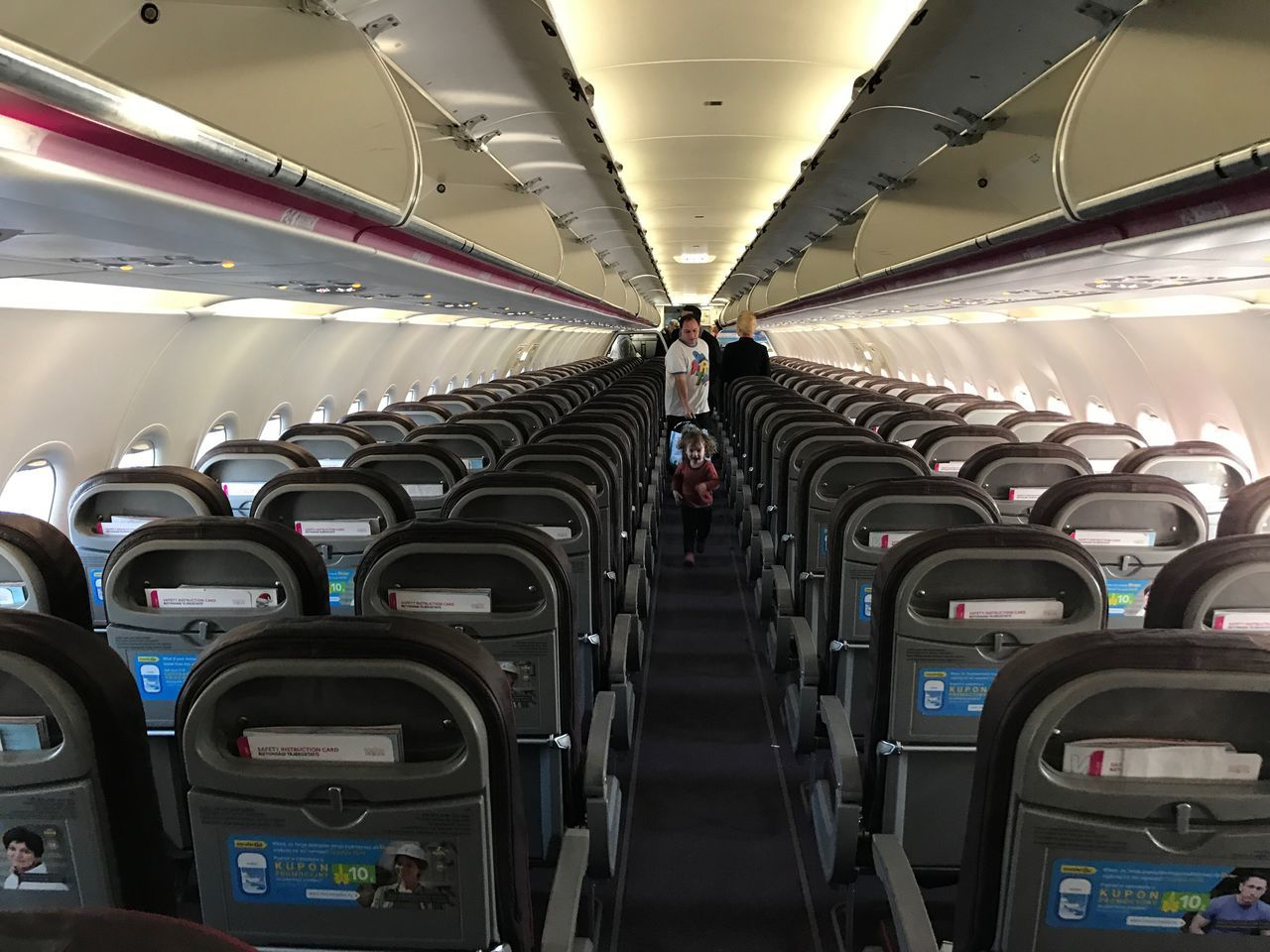 Toddler On The Plane Toddler  Plane Traveling Airplane Travel Indoors  Vehicle Seat No People Day