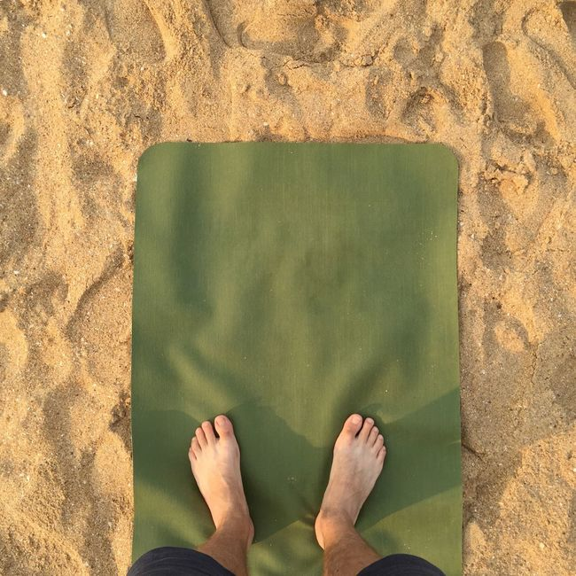 Everyday Joy Yoga on the Beach Floortraits