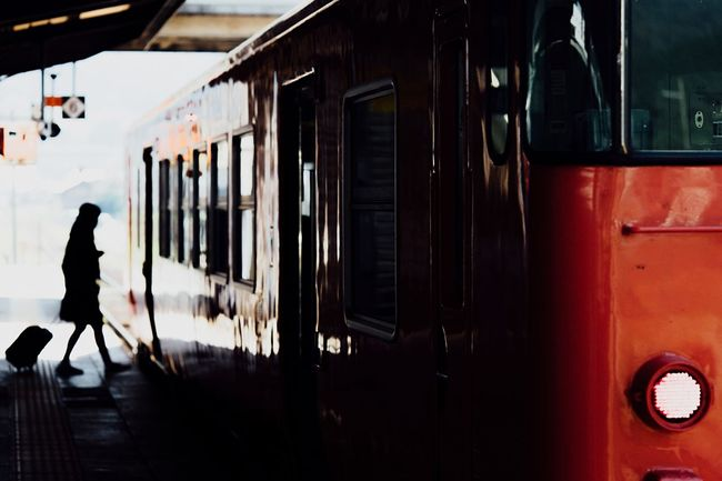 On The Train Travel Traveling Rail Transportation Local Train Transportation Person Station People And Places Capture The Moment September 2016 September Stopping Time Local Station Railroad Station Atomosphere People Of EyeEm