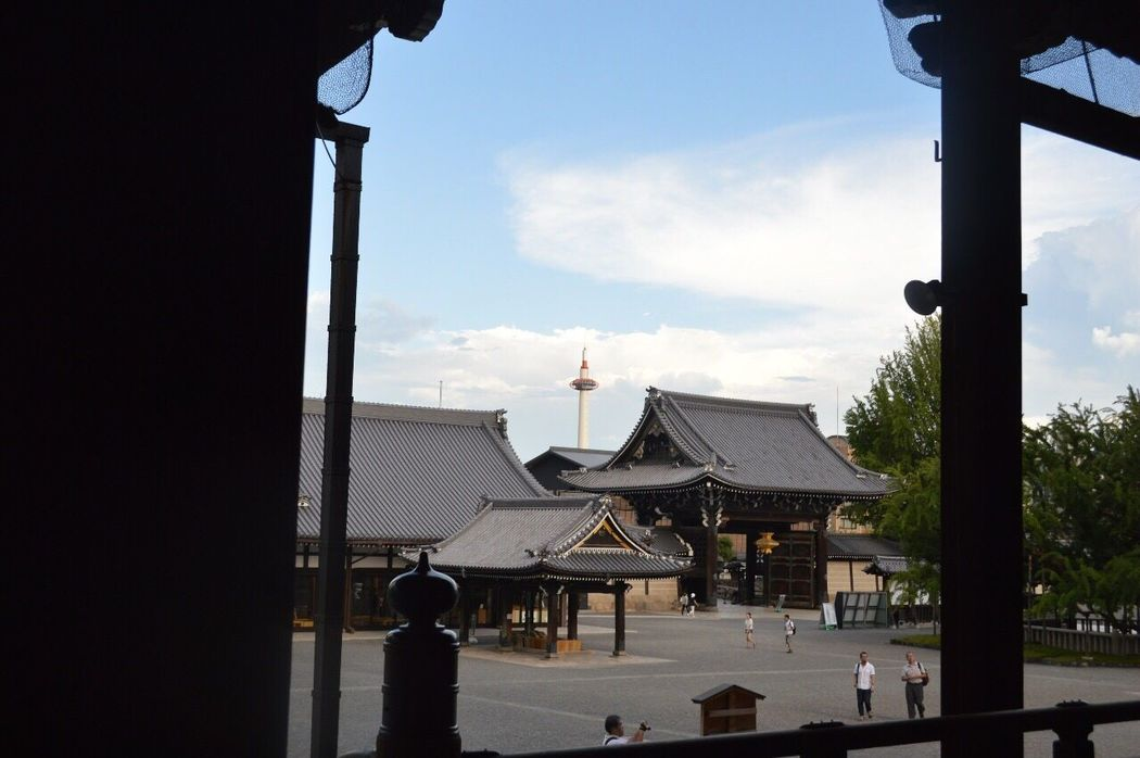 Sky Built Structure Architecture Building Exterior Day Cloud - Sky No People Tree Outdoors 西本願寺 京都タワー 新選組 屯所 京都 Kyoto