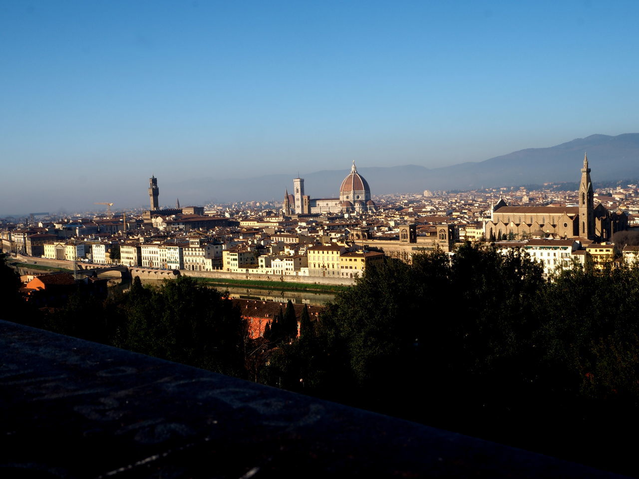 panorama of Florence, Pitti Palace, the cathedral of florence and basilica holy cross Architecture Basilic Bridge Buildings Cathedral City Florence Holy Cross Italy Italy4fun No People Outdoors Picoftheday Pitti Pitti Palace Santa Croce Seagulls Sky Sky And Clouds The Medici Family Tuscany Uffizi Uffizi Gallery Vasari Corridor Water