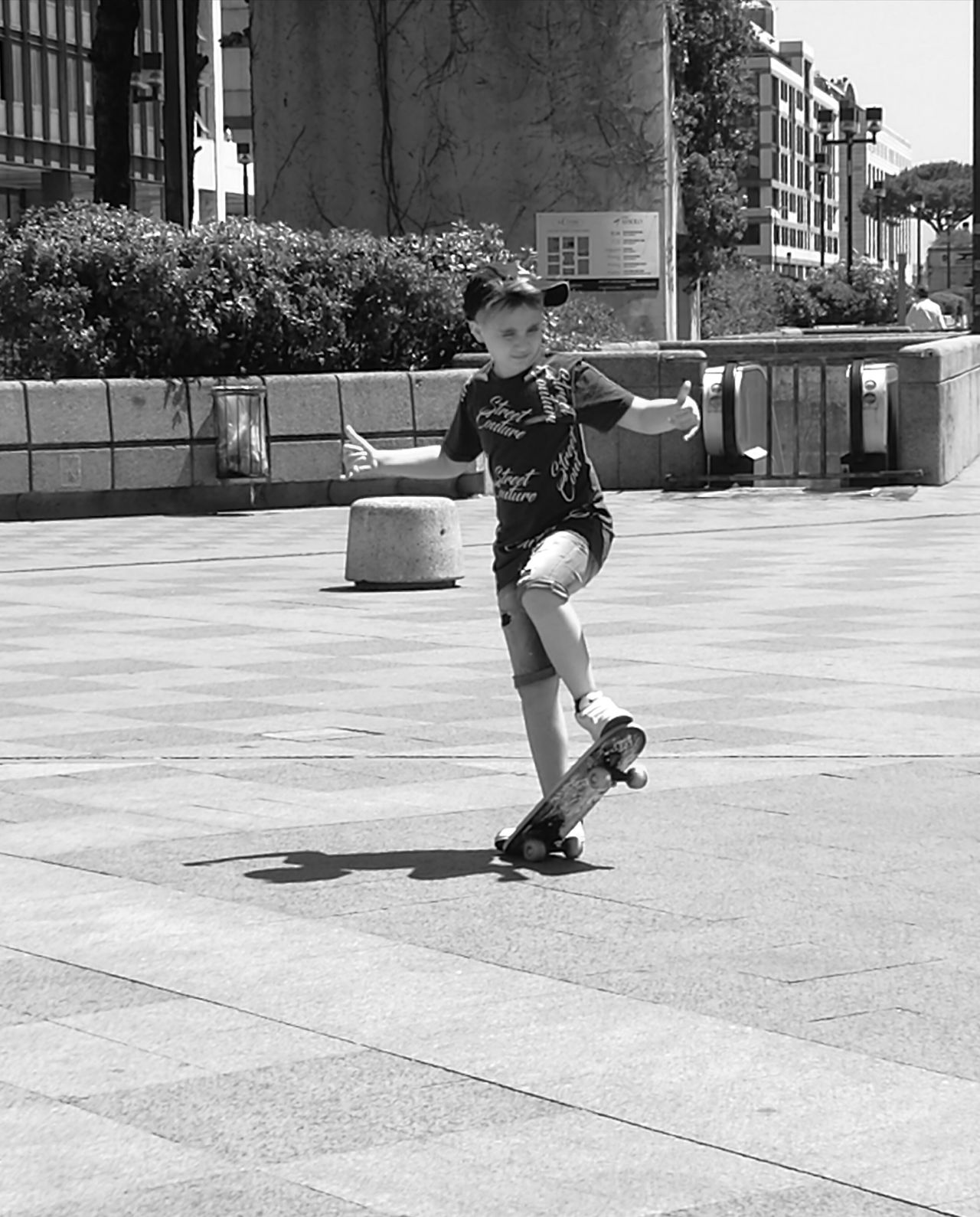 I'm so cool Childhood Full Length Playing Children Only The Street Photographer - 2017 EyeEm Awards Blackandwhite Photography Streetphoto_bw Streetphotography Napoli Italy Blackandwhitephotography NoEditNoFilter Capture The Moment Capturing Movement Capturing Freedom
