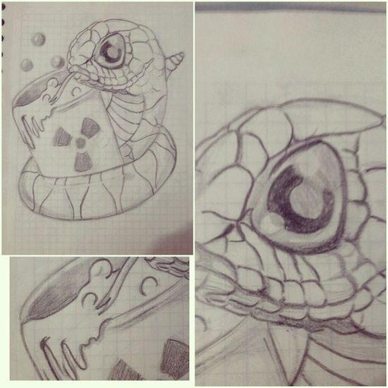 Tatuaje Tatuajes Tattoos Tattooadict tattooworld tattoodesing newschooltattoo snake sketch mydrawing