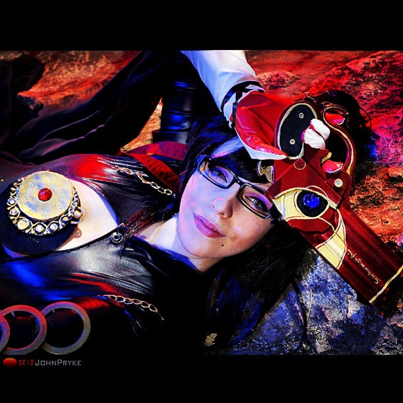 Bayonetta Cosplay Photoshoot with Katyuska Moonfox Strobist