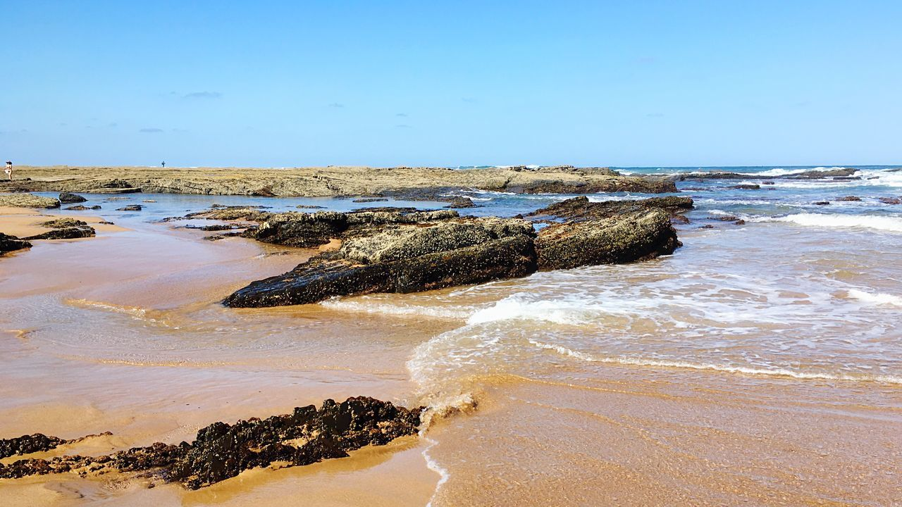 Check This Out Enjoying Life Rocky Beach Coastline Slippery Seaside Cliff Aljezur Wave Water Atlantic Ocean Sea Rock Formation Coast Blue Sky Sun Portugal Algarve Sand Beach Blue Relaxing Hanging Out