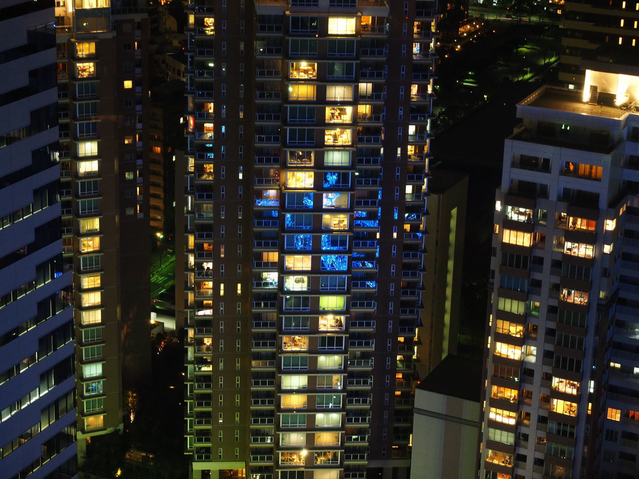 Square Night Apartment Architecture Background Bird Eyes View Building Exterior City Cityscape Colorful Condo Fukuoka Fukuoka Tower Fukuoka,Japan High Japan Light Modern Night Night Lights Residential  Room Row Screen Skyscraper Square Tall