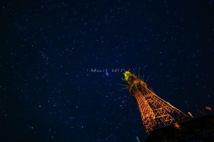 Star Stars Taking Photos Landscape Night Tower