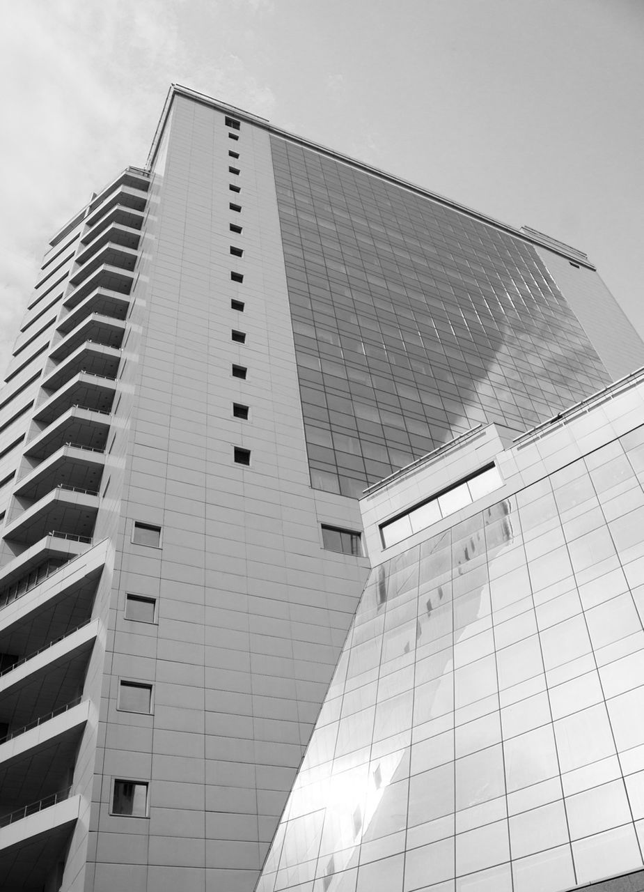 architecture, building exterior, built structure, low angle view, modern, day, skyscraper, no people, city, outdoors, sky, tall