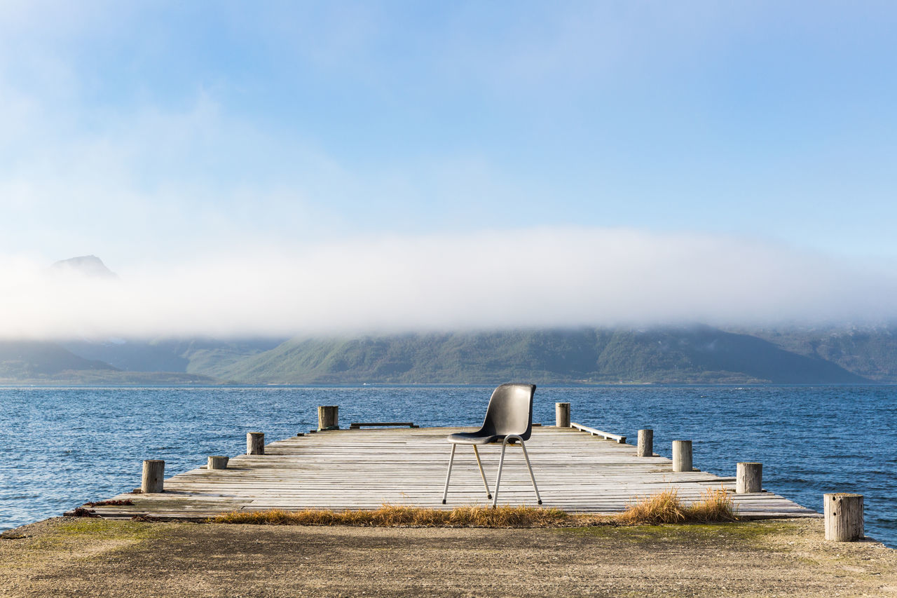Beautiful stock photos of norway, Absence, Beauty In Nature, Chair, Cloud - Sky