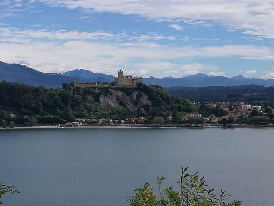 Travel Tourism Lake Italianlandscape Lago Maggiore, Italy Rocca Di Angera