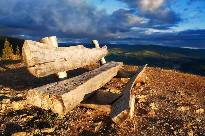 -Wood - MaterialkLoglSky Cloud - SkyoNo PeopleeDeforestationoOutdoorseNature FieldcDaycScenicscLandscapeyBeauty In NaturetSunsetnDawsonYCity YukonaCanada Relax ChillOViewoOutlookoSkyfTop Of The WorldaAlaska Be. Ready. An Eye For Travel