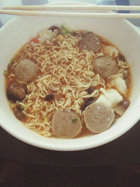 Dad hasnt made breakfest in a while ?? Ramen