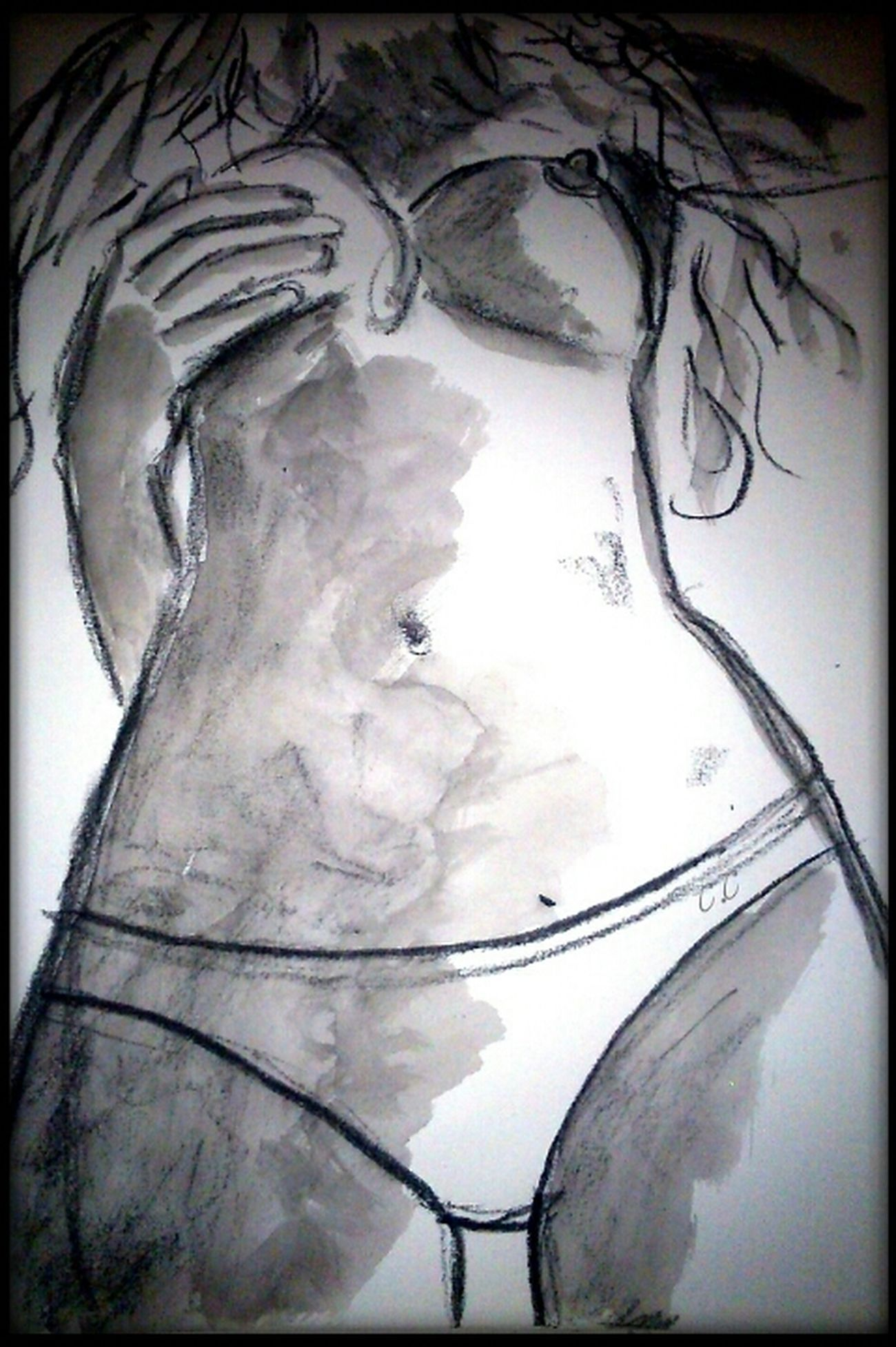 Close-up Drawing - Art Product Drawing - Activity Sketch Art And Craft Myartwork Human Representation Silhouette Artistic Human Body Part