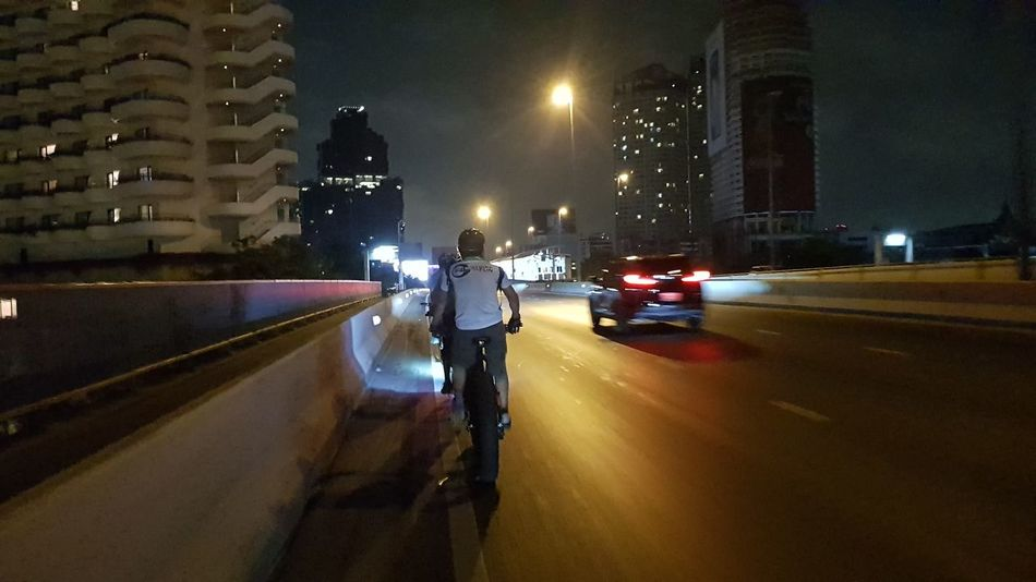bike Bike Bike Ride Fatbike Fatbikeworld Fatbikelife An Eye For Travel Night Illuminated City Car No People Building Exterior Outdoors