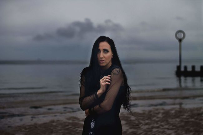 Model Modelling Beach Tumblr Tumblrgirl Band Dark Portobello Beach, Edinburgh