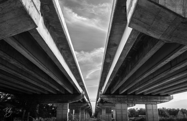 Infinite Concrete Bridge Concrete Jungle Road Look Up Black & White The Architect - 2016 EyeEm Awards