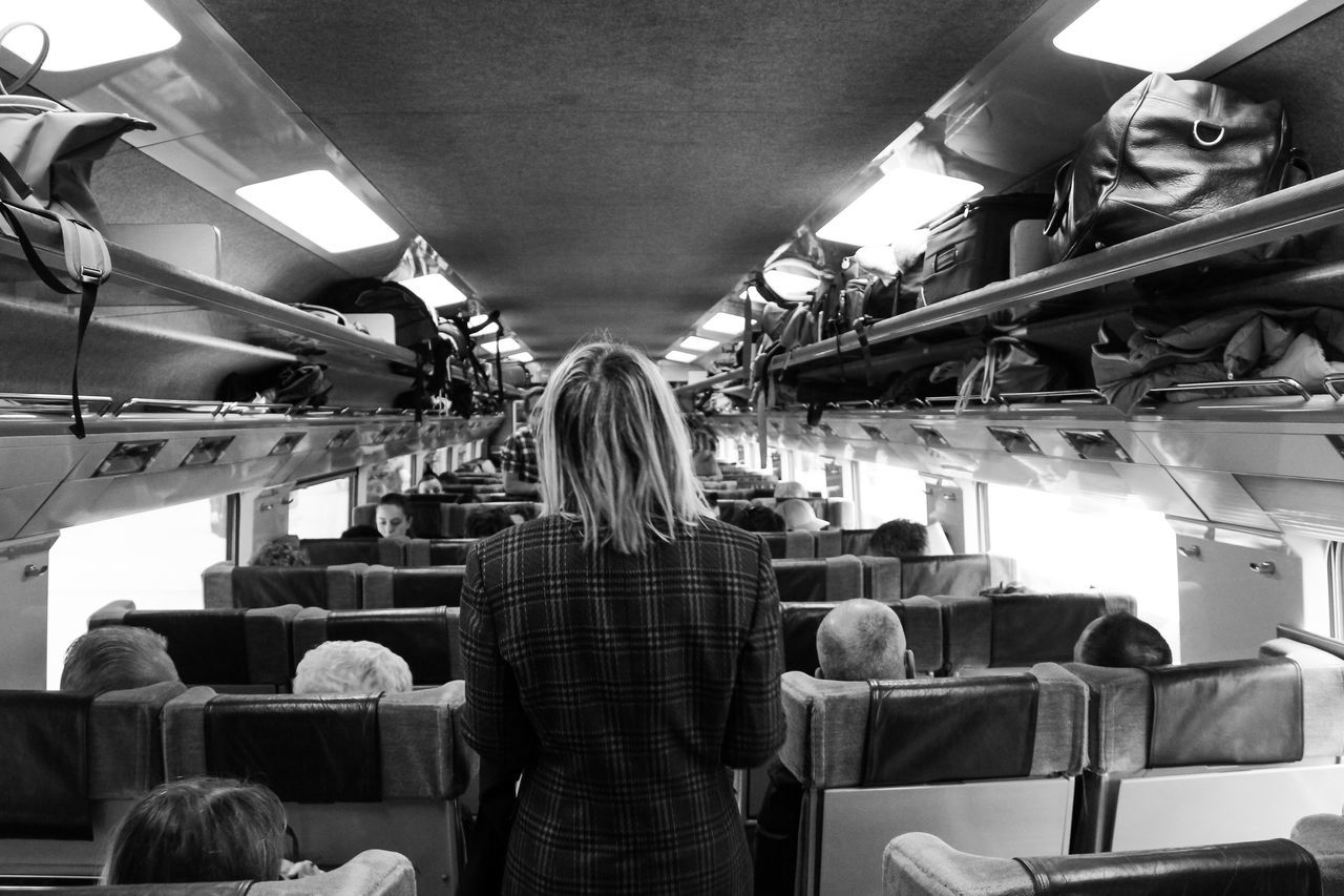 """""""Girl starting a trip in style"""" Adult Adults Only Airplane Day Everyday Lives Girl Indoors  Journey Luggage People Plaid Real People Rear View Starting A Trip Train Training Travel Travel Photography Traveling Travelingtheworld  Trip Wagon  Woman Woman Portrait Woman Who Inspire You"""