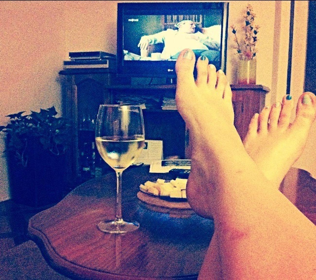 Chilling Wine Cheese! Enjoying Life ???