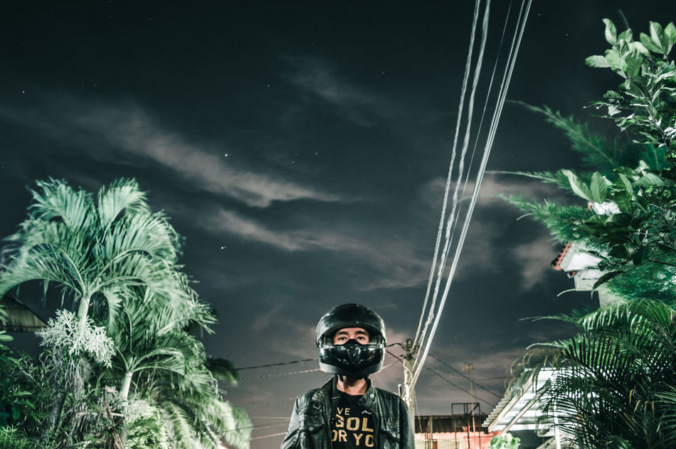 Long Goodbye Night People One Person Sky Tree One Man Only Outdoors Only Men EyeEm Indonesia Nature Low Angle View