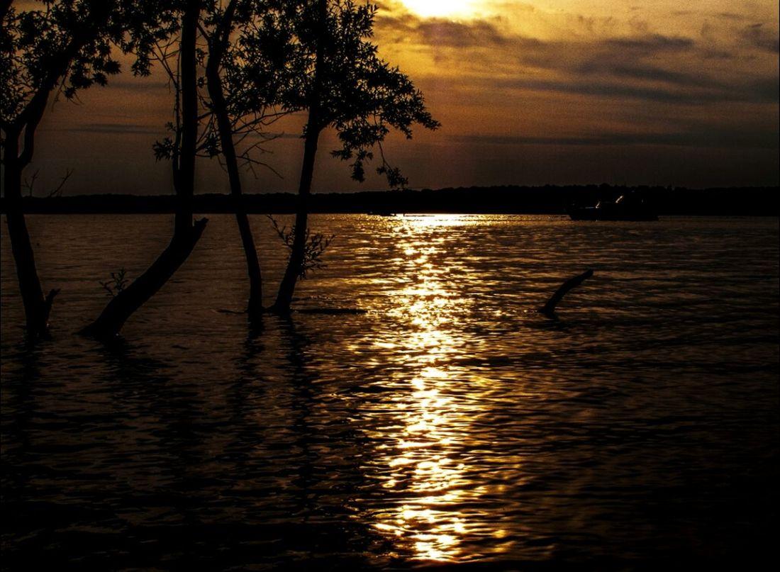 Bahía de Berlín Berlin Sunset Stopping Time Water Reflections
