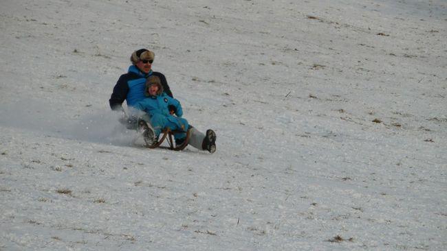 Walking Around Wintertime Snowfun! That's Me with my grandson. So many fun.