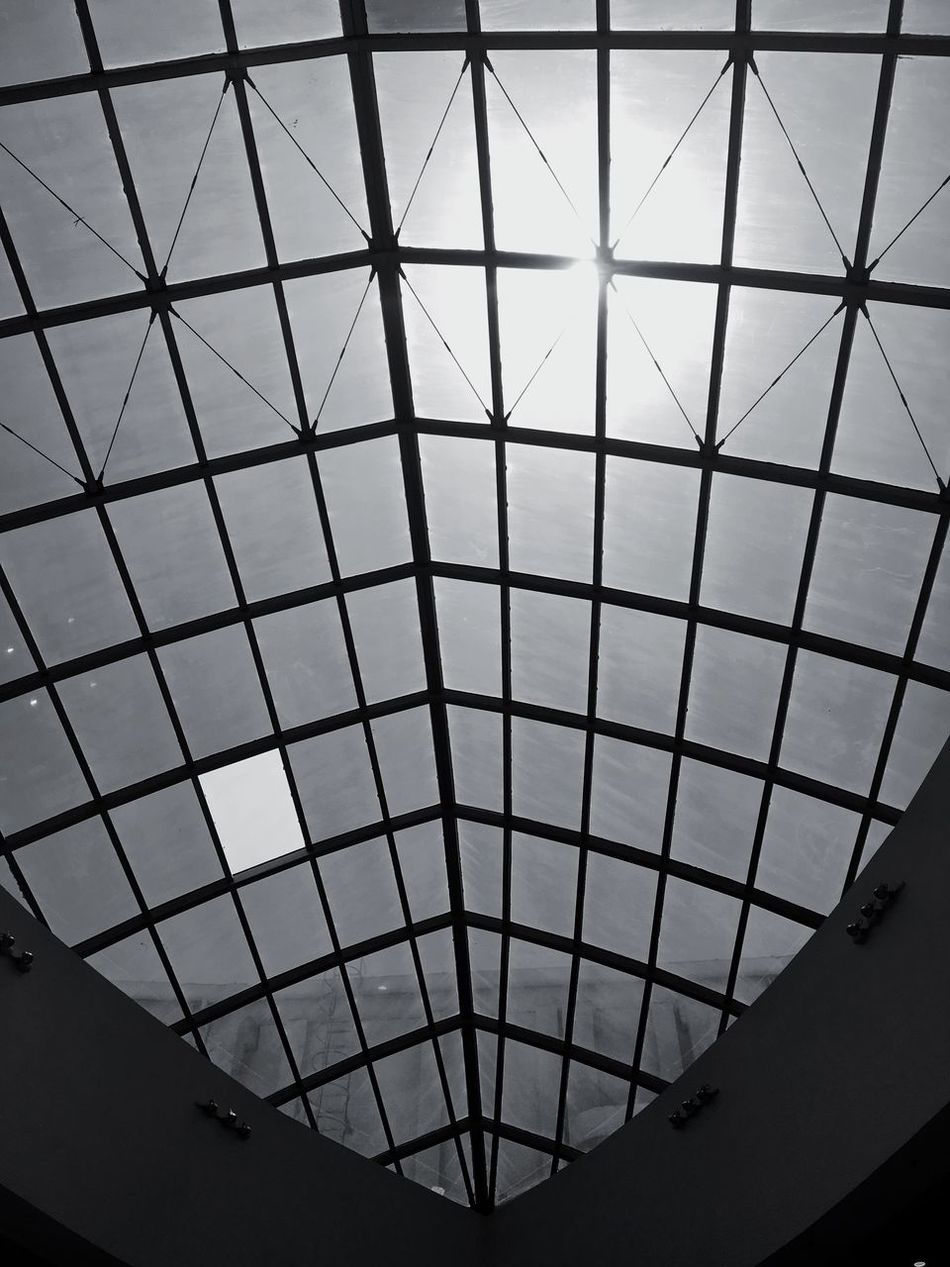 The Sun Is Shining! Too Bright Roof Ceiling EvenThough Blackandwhite